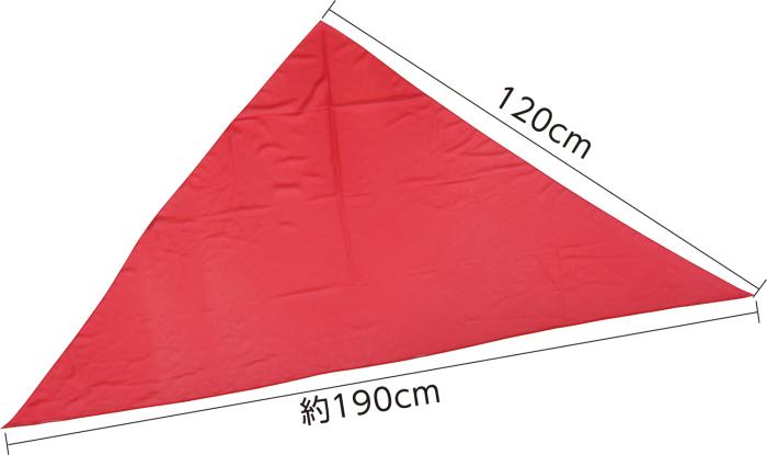围巹.���/_三角形围卺 n) 角形的红色围巾