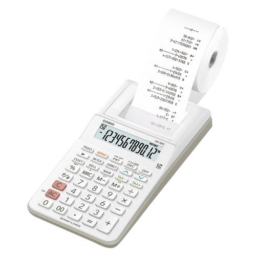 (まとめ買い)カシオ プリンター電卓 ハンディタイプ HR-8RC-WE 〔2台セット〕【北海道・沖縄・離島配送不可】