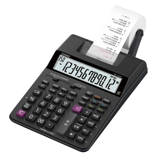 (まとめ買い)カシオ プリンター電卓 HR-170RC-BK 〔2台セット〕【北海道・沖縄・離島配送不可】