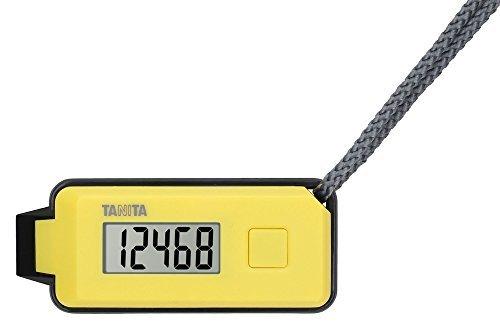 (まとめ買い)タニタ 3Dセンサー搭載歩数計 歩イッスル 緊急ホイッスル付き イエロー FB-738-YL 〔3個セット〕