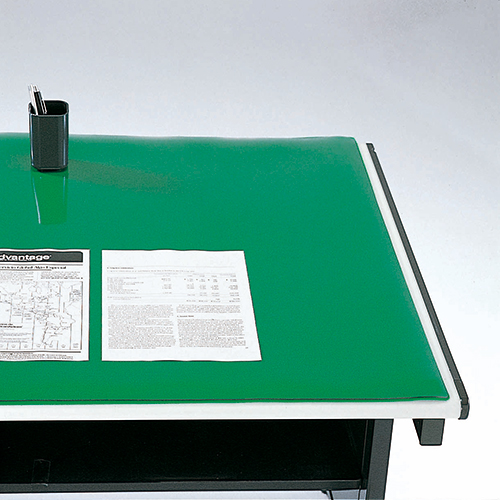 (まとめ買い)クラウン デスクマット コピーレス・ダブル 透明(グリーン下敷付) 595×1095mm CR-CW116-G 〔2枚セット〕【北海道・沖縄・離島配送不可】
