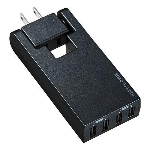 (まとめ買い)サンワサプライ スイングUSB充電タップ ブラック TR-AD3USBBK 〔3台セット〕【北海道・沖縄・離島配送不可】