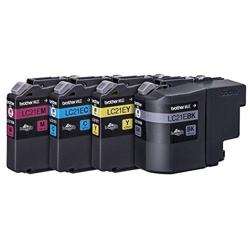 【送料無料】(まとめ買い)ブラザー インクカートリッジ大容量タイプ お徳用4色パック LC21E-4PK 〔×2〕