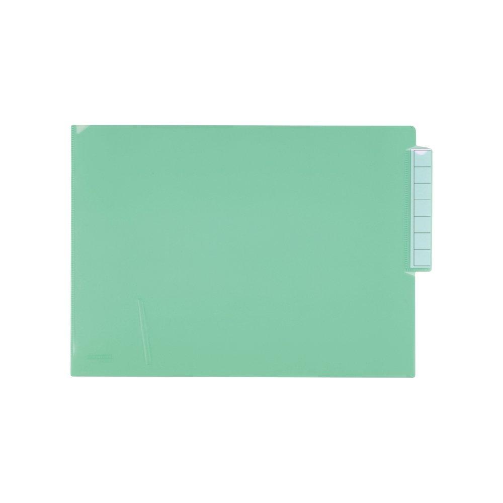 (まとめ買い)リヒトラブ カルテフォルダー A4 クリスタルグリーン HK708-19 〔×3〕【北海道・沖縄・離島配送不可】