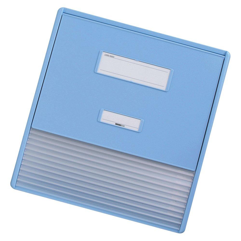 【送料無料】(まとめ買い)リヒトラブ カラーカードインデックス A3(A4縦2面) ブルー HC113C-2 〔3冊セット〕