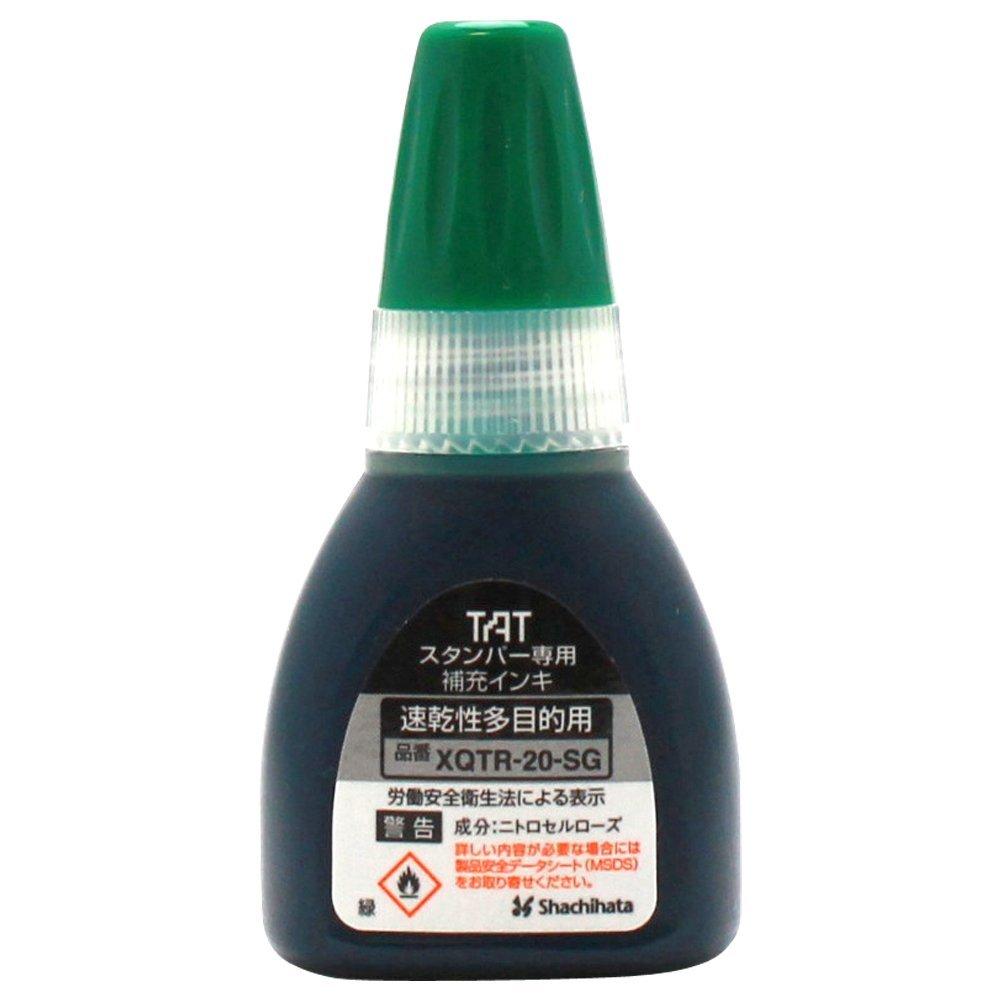 SHACHIHATA三Tostão标准打数专用的补充墨水速乾多目的緑XQTR-20-SG-G