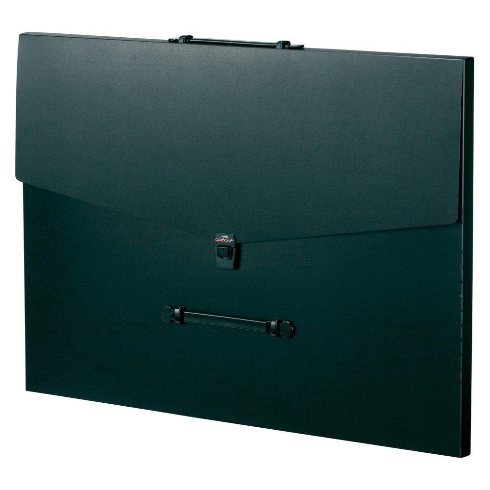 (まとめ買い)セキセイ アルタートケース フラットタイプ B2 ブラック ART-1003-60 〔3冊セット〕