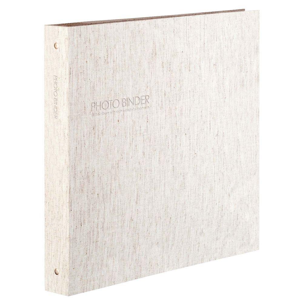 (まとめ買い)セキセイ ハーパーハウス フォトバインダー 高透明 Lサイズ300枚収容 リネン XP-3233-42 〔3冊セット〕