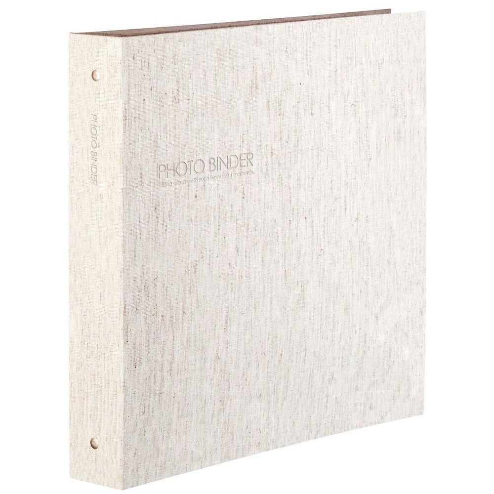 (まとめ買い)セキセイ ハーパーハウス フォトバインダー 高透明 Lサイズ600枚収容 リネン XP-3236-42 〔3冊セット〕