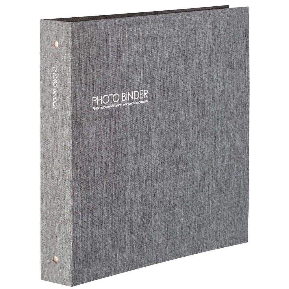 (まとめ買い)セキセイ ハーパーハウス フォトバインダー 高透明 Lサイズ600枚収容 グレー XP-3236-62 〔3冊セット〕