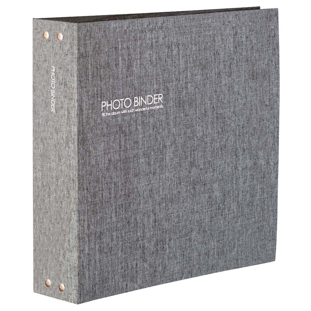 【送料無料】(まとめ買い)セキセイ ハーパーハウス フォトバインダー 高透明 Lサイズ1080枚収容 グレー XP-3238-62 〔3冊セット〕