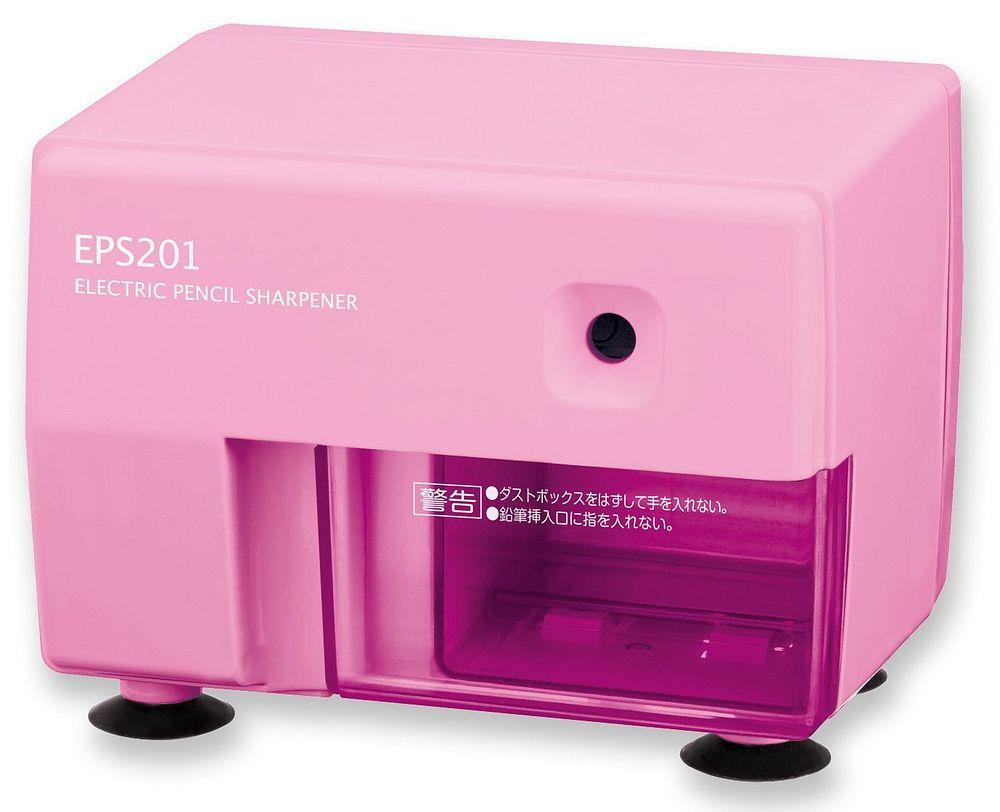 (まとめ買い)アスカ 鉛筆削り 電動シャープナー ピンク EPS201P 〔×3〕【北海道・沖縄・離島配送不可】
