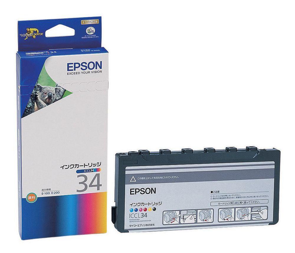 【送料無料】(まとめ買い)エプソン 純正 インクカートリッジ カラー6色一体型 ICCL34 〔3個セット〕