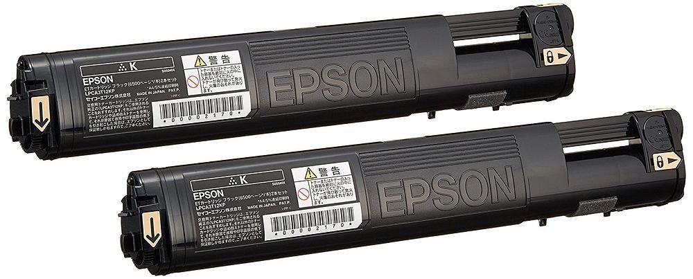 【送料無料】エプソン ETカートリッジ ブラック 6500ページ 2本パック LPCA3T12KP