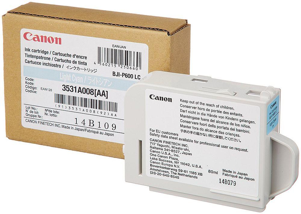 【送料無料】(まとめ買い)キヤノン 純正 インクカートリッジ ライトシアン BJI-P600LC 〔3個セット〕