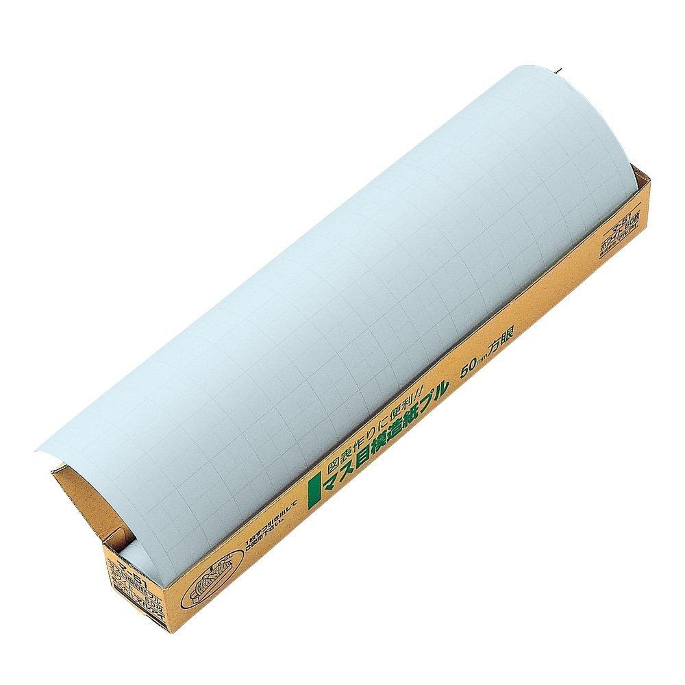 (まとめ買い)マルアイ マス目模造紙 プルタイプ ブルー 50枚 マ-51B 〔×3〕