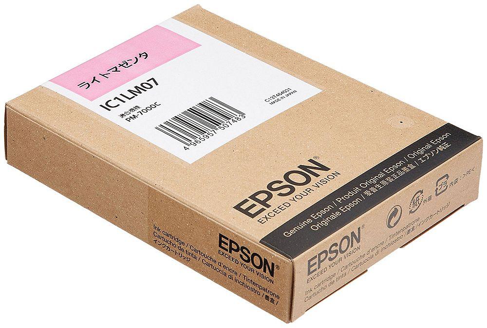 【送料無料】(まとめ買い)エプソン 純正 インクカートリッジ ライトマゼンタ IC1LM07 〔3個セット〕