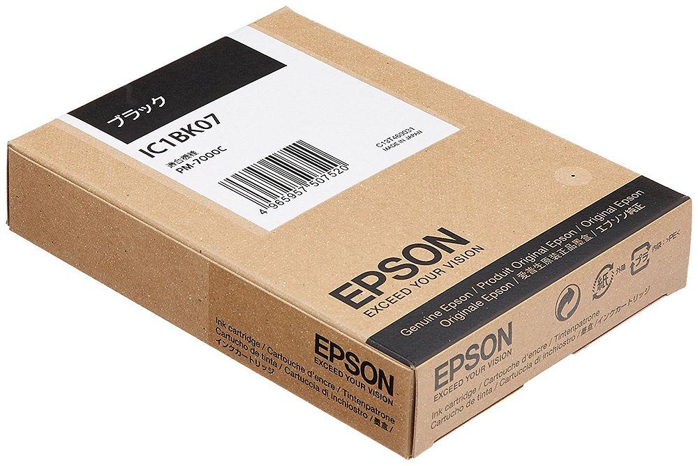 (まとめ買い)エプソン 純正 インクカートリッジ ブラック IC1BK07 〔3個セット〕