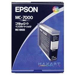 【送料無料】(まとめ買い)エプソン 純正 インクカートリッジ ブラック MC1BK03 〔3個セット〕