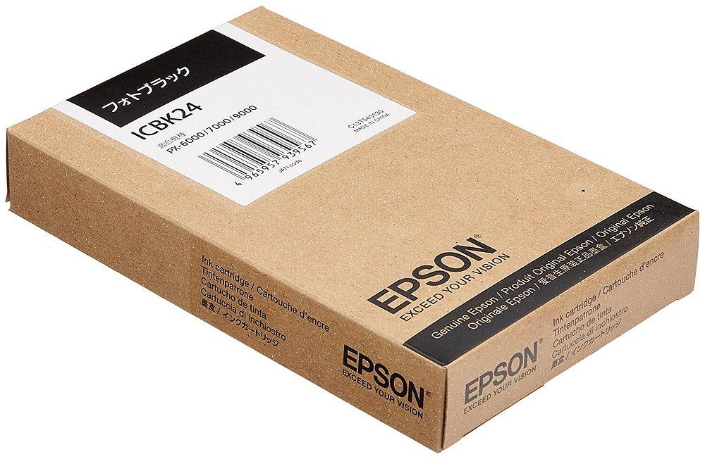 (まとめ買い)エプソン 純正 インクカートリッジ フォトブラック ICBK24 〔3個セット〕【北海道・沖縄・離島配送不可】