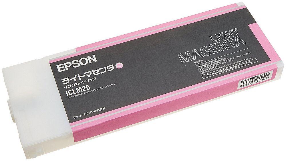 【送料無料】(まとめ買い)エプソン 純正 インクカートリッジ ライトマゼンタ ICLM25 〔3個セット〕