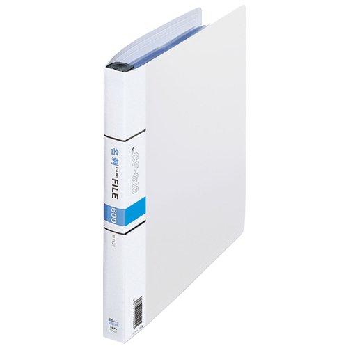 (まとめ買い)コレクト 名刺カードファイル 白 A4-L 30穴 CF-616-WH 〔5冊セット〕