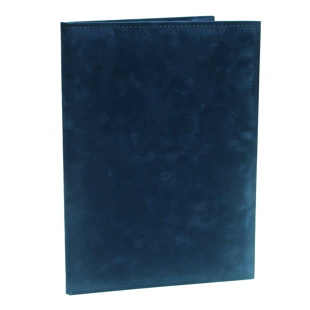 【送料無料】(まとめ買い)コレクト 調印・証書ホルダー スエード A4判 紺 F-444-BL 〔×3〕