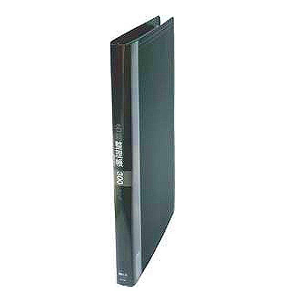 (まとめ買い)コレクト 名刺整理帳 300枚用 ブラック A4-L 30穴 K-713-BK 〔5冊セット〕
