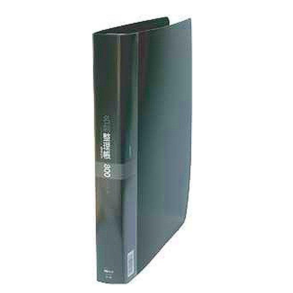 【送料無料】(まとめ買い)コレクト 名刺整理帳 800枚用 ブラック A4-L 30穴 K-718-BK 〔5冊セット〕