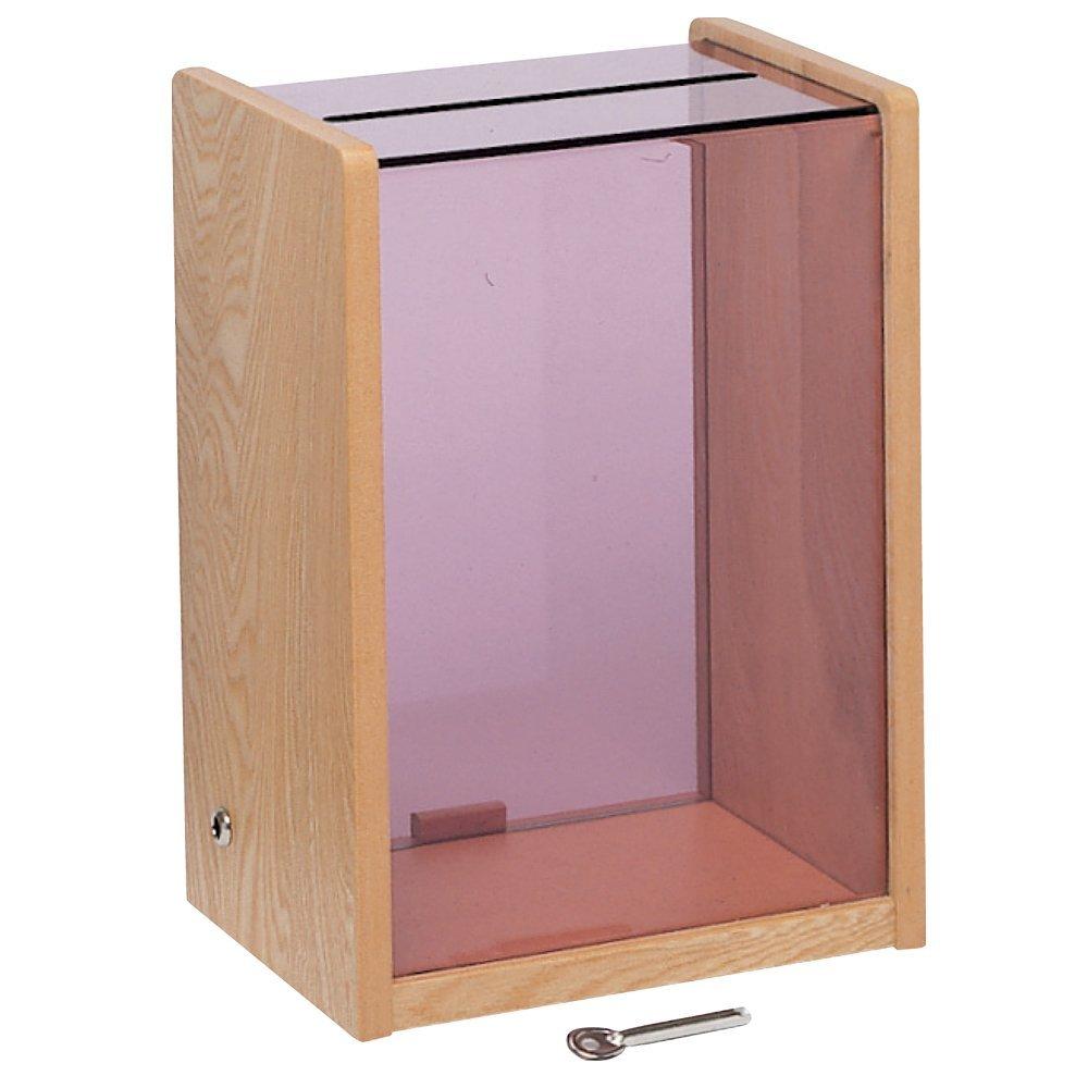 【送料無料】コレクト 窓口ボックス 木・透明アクリル製 大 M-522