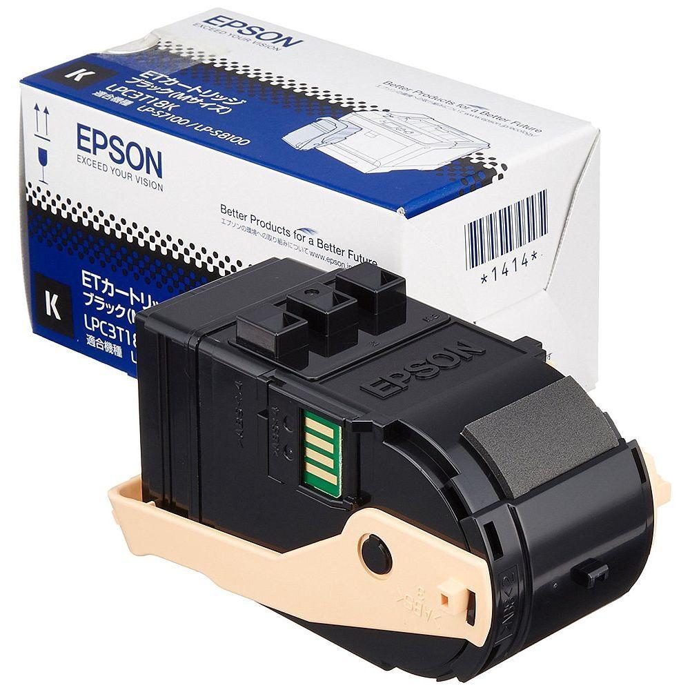 (まとめ買い)エプソン 純正 ETトナー ブラック Mサイズ 5500ページ LPC3T18K 〔3個セット〕【北海道・沖縄・離島配送不可】