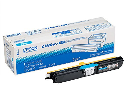 (まとめ買い)エプソン 純正 ETトナー シアン Mサイズ 2700ページ LPC4T7C 〔3個セット〕【北海道・沖縄・離島配送不可】