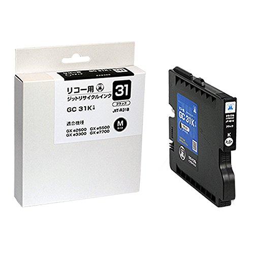 (まとめ買い)ジット リサイクルインクカートリッジ リコー GC31K ブラック対応 JIT-R31B 〔×3〕