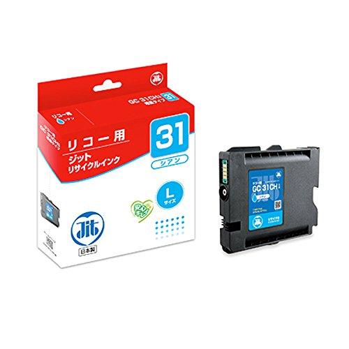 【送料無料】(まとめ買い)ジット リサイクルインクカートリッジ リコー GC31CH(増量タイプ) シアン対応 JIT-R31CH 〔3個セット〕