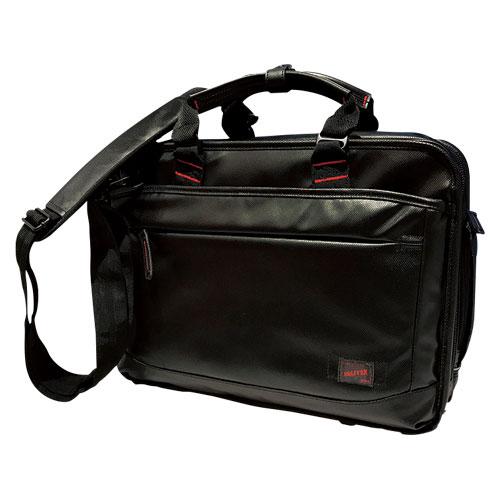 【送料無料】(まとめ買い)コクホー 多用途カジュアルビジネスバッグ DR-BB041-B 〔3個セット〕