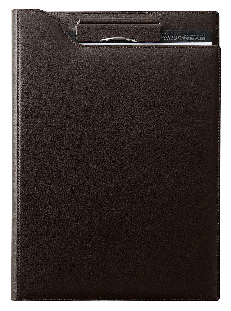 【送料無料】(まとめ買い)レイメイ藤井 zeitVektor クリップファイル A4 ブラック シボレザー ZVF655B 〔3冊セット〕