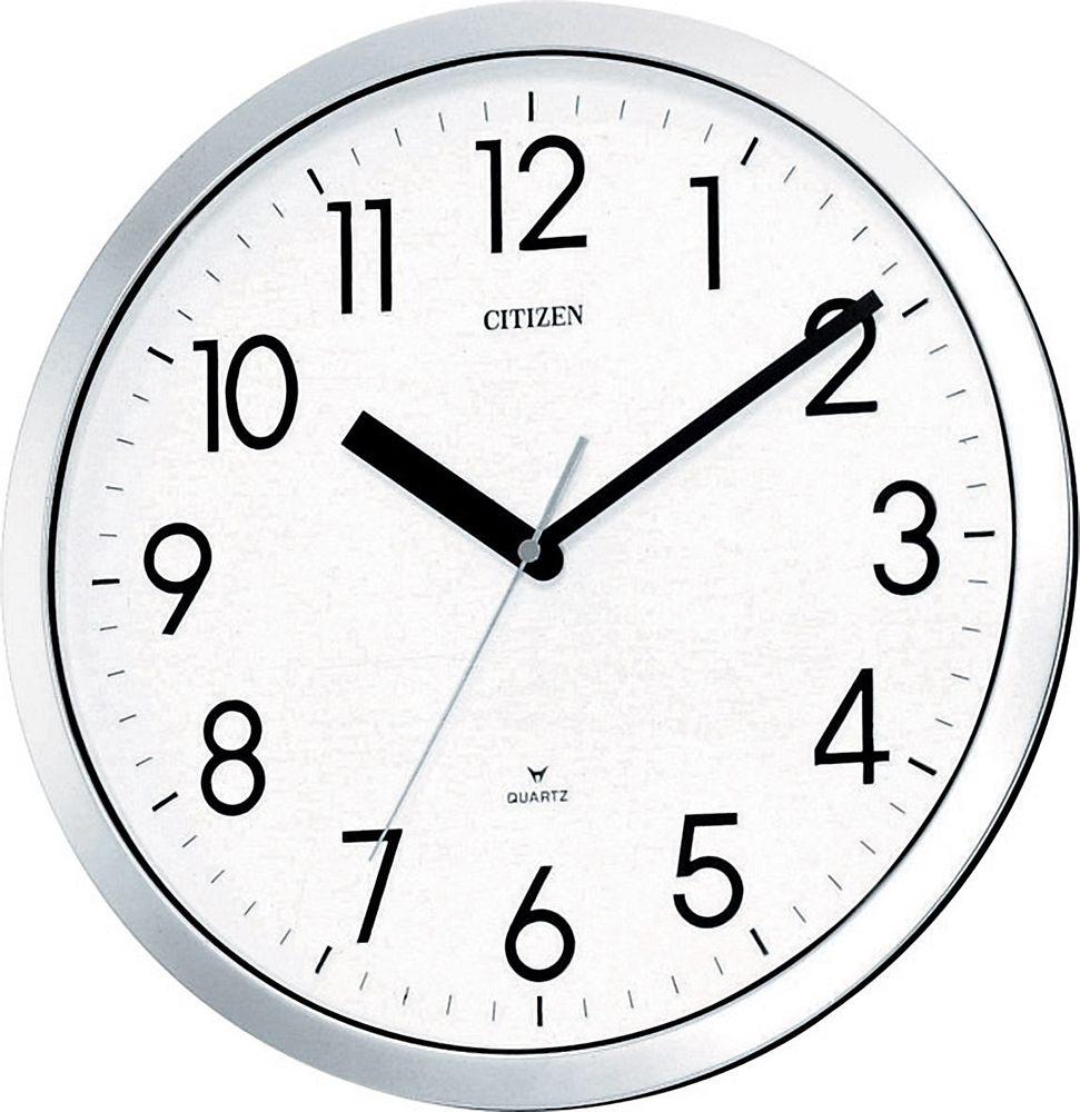 (まとめ買い)シチズン 電波掛け時計 スペイシーM522 4MG522-050 〔3台セット〕【北海道・沖縄・離島配送不可】