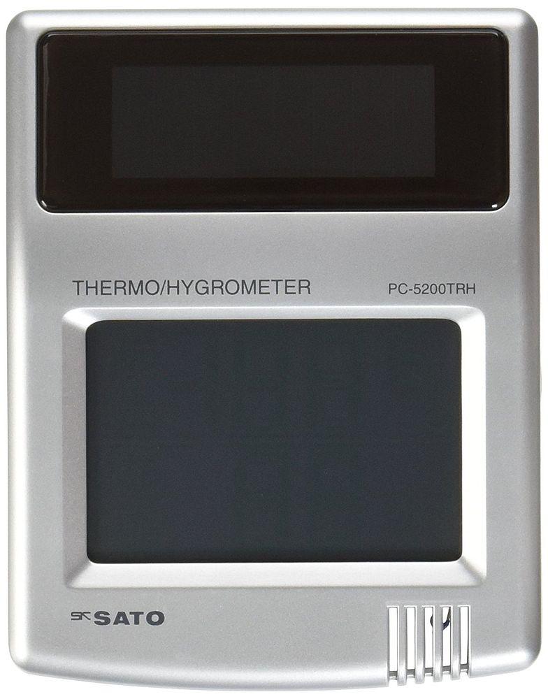 【送料無料】(まとめ買い)佐藤計量器 ソーラーデジタル温湿度計 PC-5200TRH 1050-10 〔3個セット〕