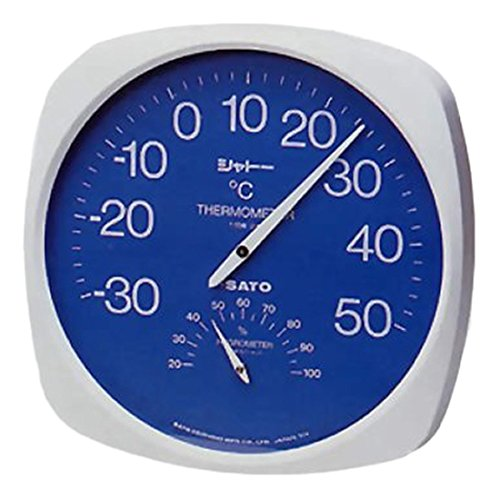 (まとめ買い)佐藤計量器 シャトー温湿度計 TH-300 1013-00 〔3個セット〕【北海道・沖縄・離島配送不可】