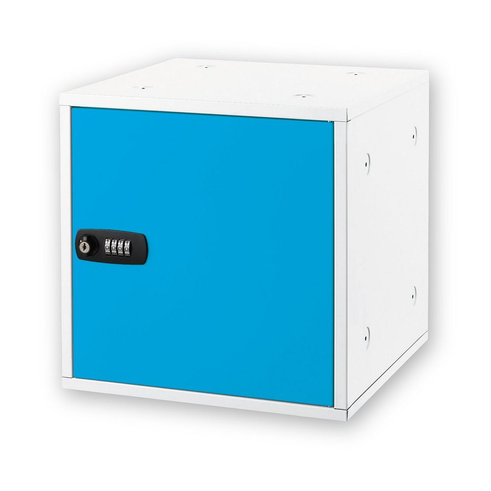 【送料無料】(まとめ買い)アスカ 組み立て式ロッカー ブルー SB500B 〔3個セット〕