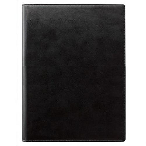 (まとめ買い)レイメイ藤井 ツァイトベクター レポートパッド 合皮製 A4 ブラック ZVPG5B 〔3冊セット〕