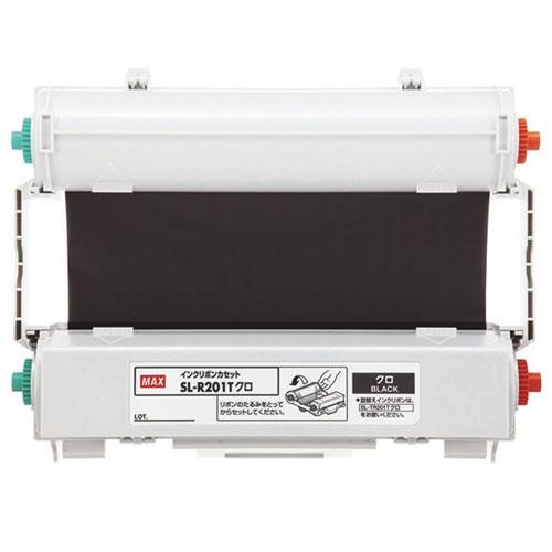 【送料無料】(まとめ買い)マックス ビーポップ CPM-200専用 詰め替え式インクリボン 黒 SL-R201Tクロ 〔×3〕