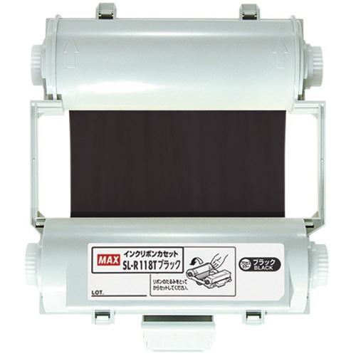 【送料無料】(まとめ買い)マックス ビーポップ100タイプ プロセスカラー印刷インクリボン ブラック SL-R118T 〔×3〕
