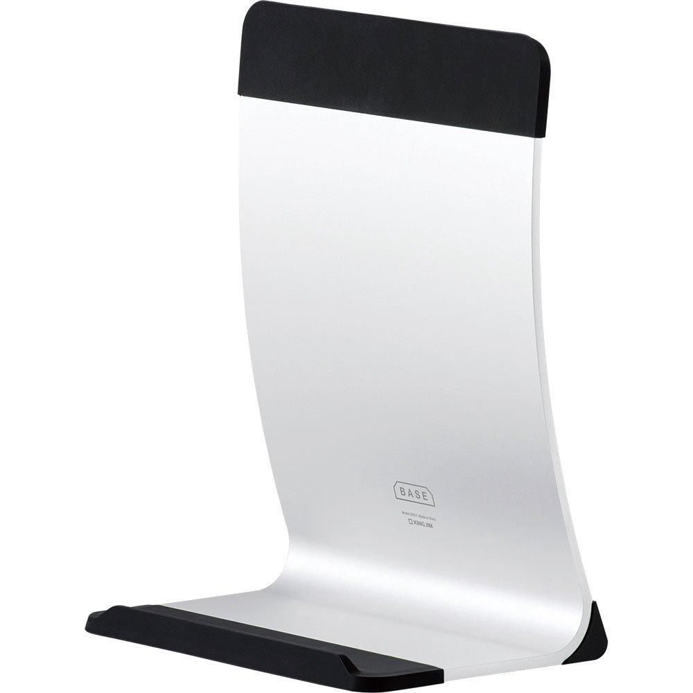 (まとめ買い)キングジム BASE ノートパソコンスタンド シルバー BS03シル 〔3個セット〕