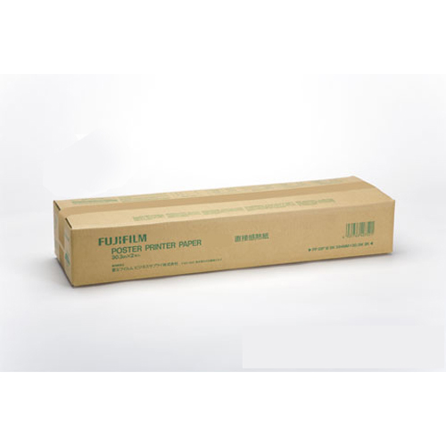 【送料無料】(まとめ買い)富士フイルム ポスタープリンター用紙 直接感熱紙 白地黒 915ミリ幅 PP DIP WBK915MMX30.3 〔×3〕