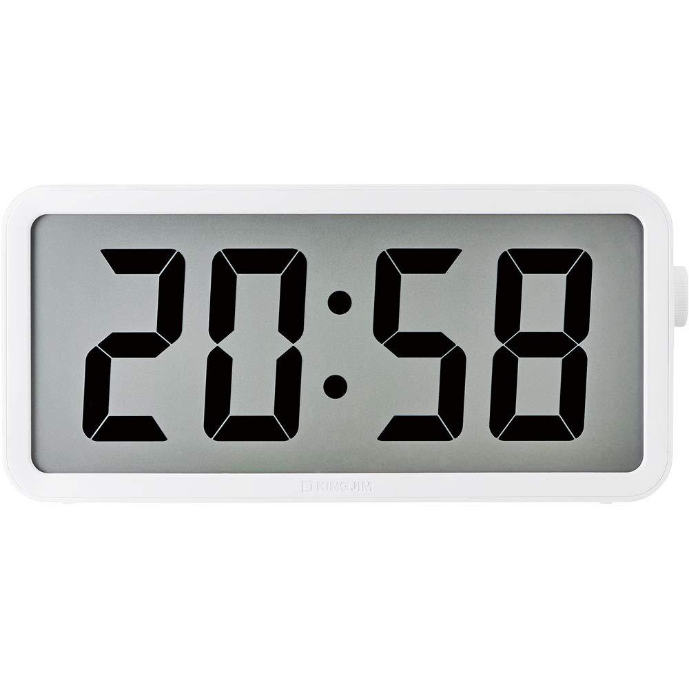 キングジム 電波時計 ザラージ タイマークロック DTC-001W【北海道・沖縄・離島配送不可】