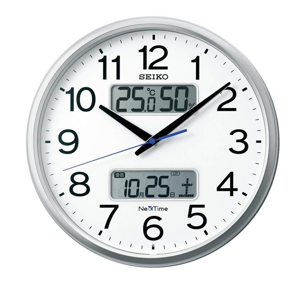 セイコー 電波掛け時計 ネクスタイム 温度・湿度・カレンダー表示 ZS250S【北海道・沖縄・離島配送不可】