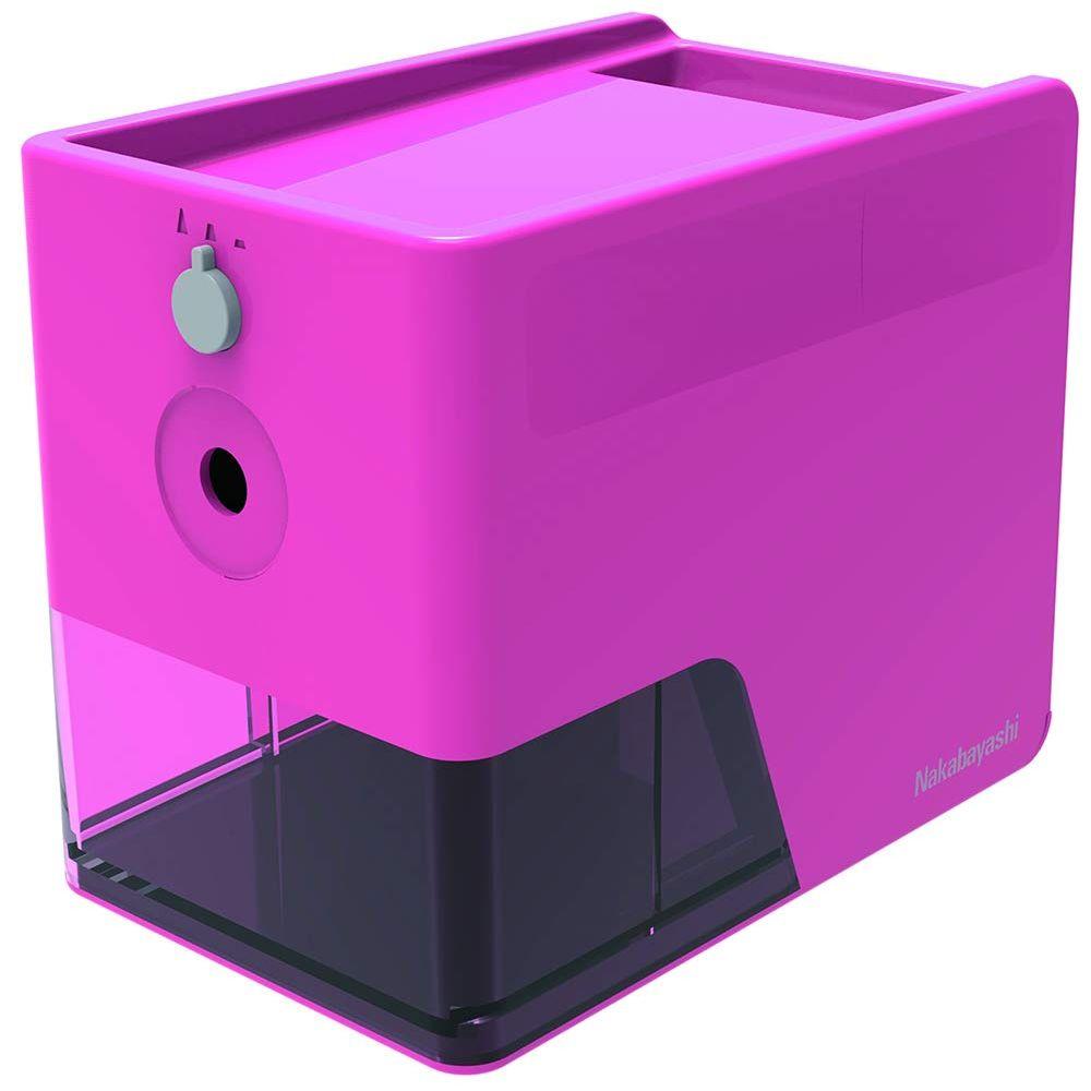 (まとめ買い)ナカバヤシ 電動鉛筆削り スリムトレータイプ ピンク DPS-601KP 〔3個セット〕【北海道・沖縄・離島配送不可】