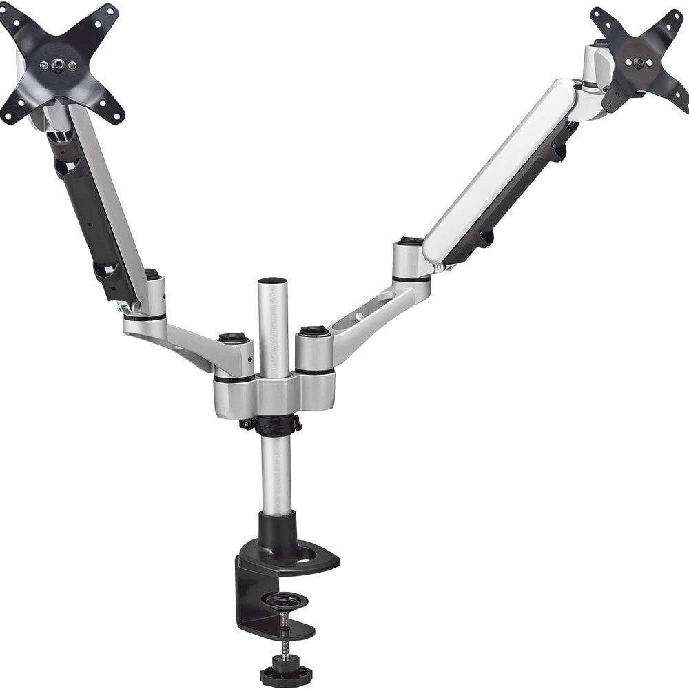 キングジム モニターアーム(2面垂直タイプ) ARM220シル【北海道・沖縄・離島配送不可】