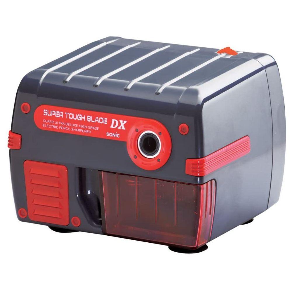 (まとめ買い)ソニック 電動鉛筆削り スーパータフブレードDX ブラック SK-511-BD 〔3個セット〕【北海道・沖縄・離島配送不可】